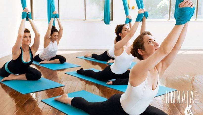 Aerial Yogan huipputunteja Espoossa 1-2.4