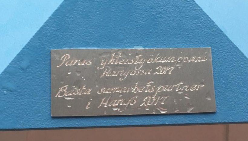 Merijooga sai tunnustusta Hangossa